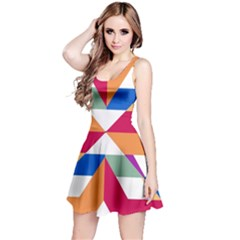 Shapes in triangles Sleeveless Dress