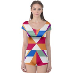 Shapes In Triangles Short Sleeve Leotard