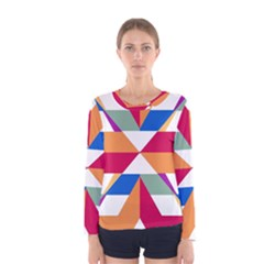 Shapes In Triangles Women Long Sleeve T Shirt