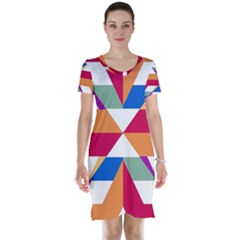 Shapes in triangles Short Sleeve Nightdress