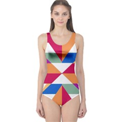 Shapes In Triangles Women s One Piece Swimsuit
