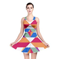 Shapes In Triangles Reversible Skater Dress