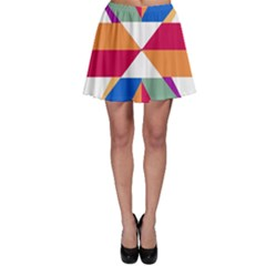 Shapes in triangles Skater Skirt