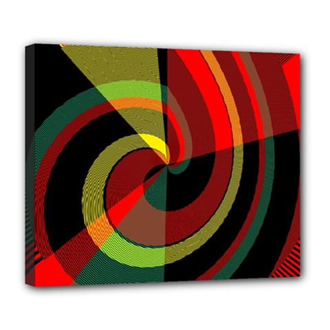 Spiral Deluxe Canvas 24  X 20  (stretched)