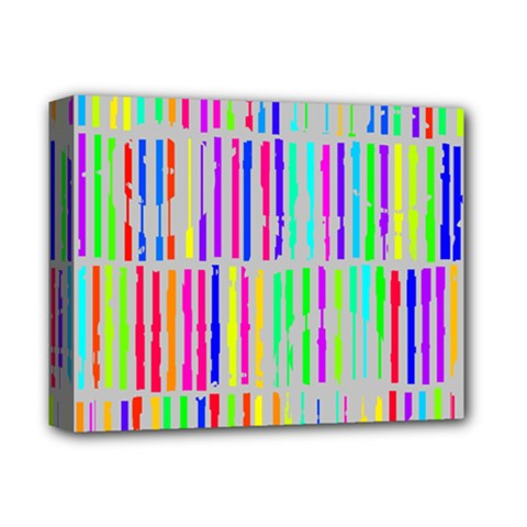 Colorful vintage stripes Deluxe Canvas 14  x 11  (Stretched)