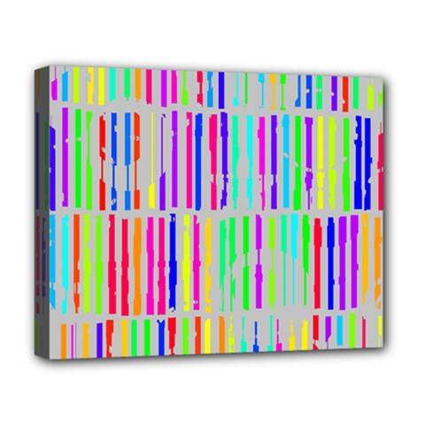 Colorful vintage stripes Deluxe Canvas 20  x 16  (Stretched)