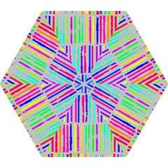 Colorful vintage stripes Umbrella