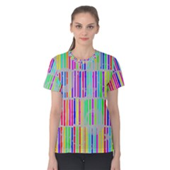 Colorful vintage stripes Women s Cotton Tee