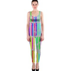 Colorful vintage stripes OnePiece Catsuit