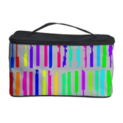 Colorful vintage stripes Cosmetic Storage Case