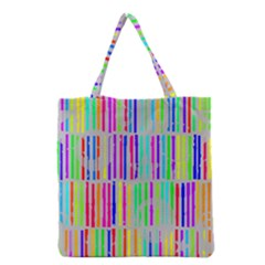 Colorful Vintage Stripes Grocery Tote Bag