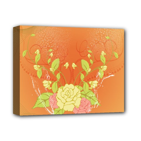 Beautiful Flowers In Soft Colors Deluxe Canvas 14  x 11