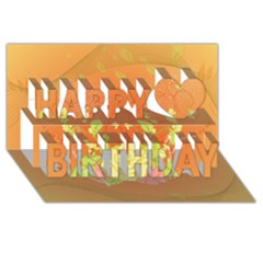Beautiful Flowers In Soft Colors Happy Birthday 3D Greeting Card (8x4)
