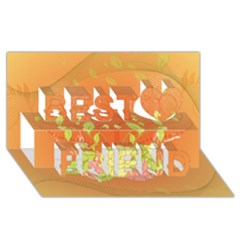 Beautiful Flowers In Soft Colors Best Friends 3D Greeting Card (8x4)