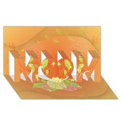 Beautiful Flowers In Soft Colors Mom 3d Greeting Card (8x4)