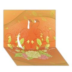 Beautiful Flowers In Soft Colors Apple 3d Greeting Card (7x5)