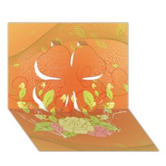Beautiful Flowers In Soft Colors Clover 3d Greeting Card (7x5)