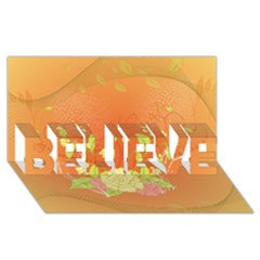 Beautiful Flowers In Soft Colors Believe 3d Greeting Card (8x4)