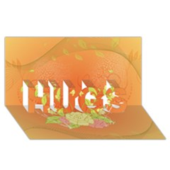 Beautiful Flowers In Soft Colors HUGS 3D Greeting Card (8x4)