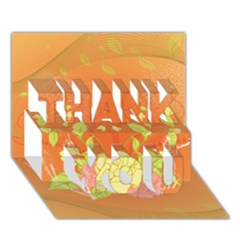 Beautiful Flowers In Soft Colors Thank You 3d Greeting Card (7x5)