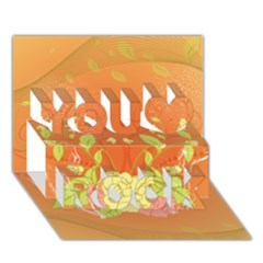 Beautiful Flowers In Soft Colors You Rock 3D Greeting Card (7x5)