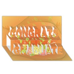 Beautiful Flowers In Soft Colors Congrats Graduate 3D Greeting Card (8x4)