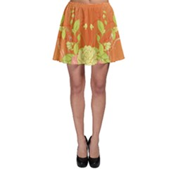 Beautiful Flowers In Soft Colors Skater Skirts