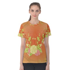 Beautiful Flowers In Soft Colors Women s Cotton Tees