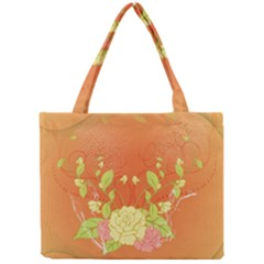 Beautiful Flowers In Soft Colors Tiny Tote Bags