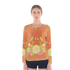 Beautiful Flowers In Soft Colors Women s Long Sleeve T-shirts