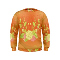 Beautiful Flowers In Soft Colors Boys  Sweatshirts