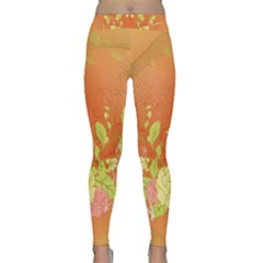 Beautiful Flowers In Soft Colors Yoga Leggings