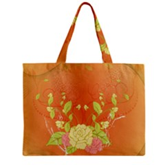 Beautiful Flowers In Soft Colors Zipper Tiny Tote Bags