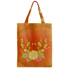 Beautiful Flowers In Soft Colors Zipper Classic Tote Bags