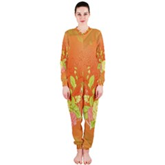 Beautiful Flowers In Soft Colors OnePiece Jumpsuit (Ladies)