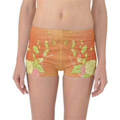 Beautiful Flowers In Soft Colors Boyleg Bikini Bottoms