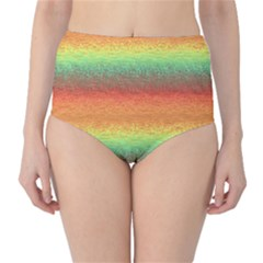 Gradient chaos High-Waist Bikini Bottoms