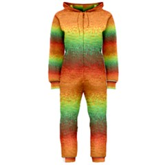 Gradient chaos Hooded OnePiece Jumpsuit