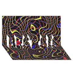 Ribbon Chaos 2 Black  BEST SIS 3D Greeting Card (8x4)