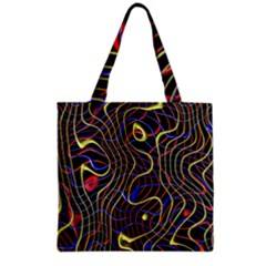 Ribbon Chaos 2 Black  Grocery Tote Bags