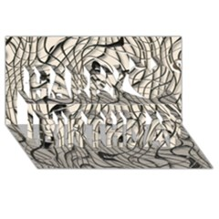 Ribbon Chaos 2  Happy Birthday 3d Greeting Card (8x4)