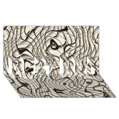 Ribbon Chaos 2  BEST BRO 3D Greeting Card (8x4)