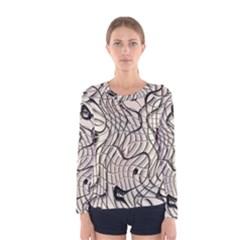 Ribbon Chaos 2  Women s Long Sleeve T Shirts