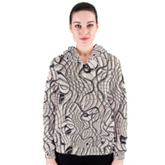Ribbon Chaos 2  Women s Zipper Hoodies