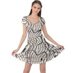 Ribbon Chaos 2  Cap Sleeve Dresses