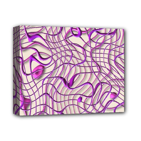 Ribbon Chaos 2 Lilac Deluxe Canvas 14  X 11