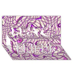 Ribbon Chaos 2 Lilac Best Friends 3d Greeting Card (8x4)