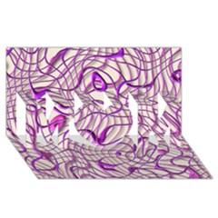 Ribbon Chaos 2 Lilac Mom 3d Greeting Card (8x4)