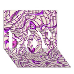 Ribbon Chaos 2 Lilac BOY 3D Greeting Card (7x5)