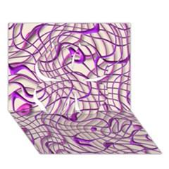 Ribbon Chaos 2 Lilac Clover 3D Greeting Card (7x5)